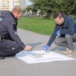 В таллинском районе появилась яркая маркировка, напоминающая о правилах выгула собак