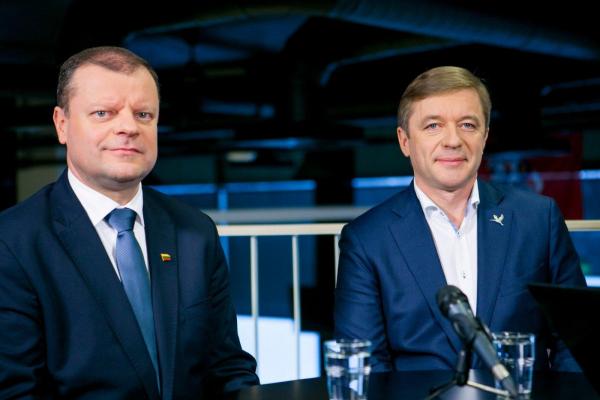 С. Сквернялис и Р. Карбаускис видят возможность сформирования левоцентристской коалиции