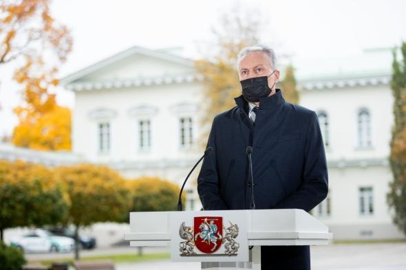 Г. Науседа: в администрации президента оценивают обращение В. Томашевского