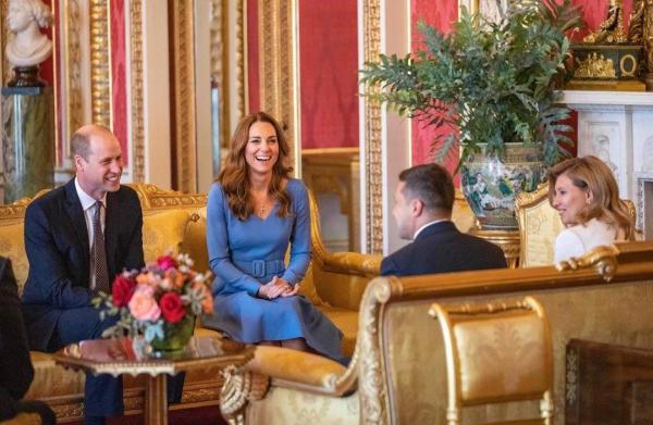 Принц Уильям и Кейт Миддлтон встретились с Зеленским и его супругой