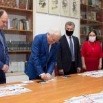 Марку, выпущенную в честь юбилея Приднестровского университета, погасили в Русском центре