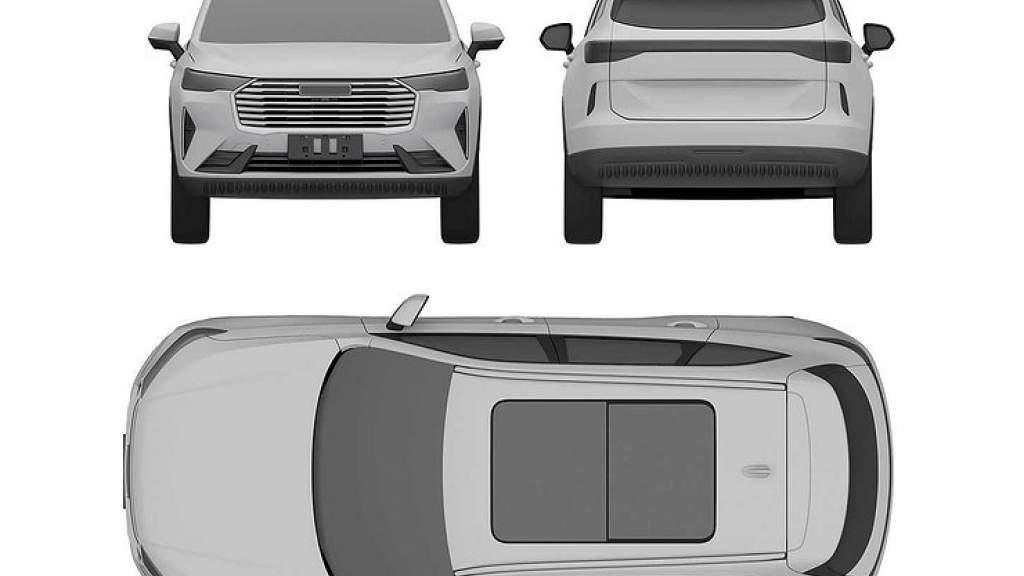 Haval H6 нового поколения запатентовали в России