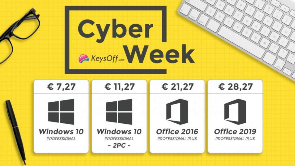 Кибер неделя скидок Keysoff: Windows 10 Pro всего за €7.27