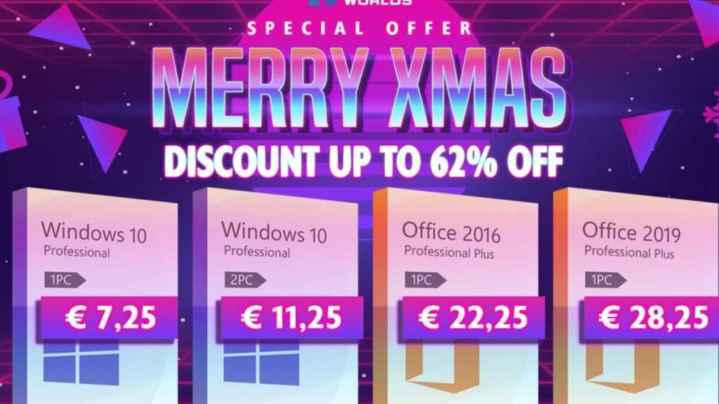 Новогоднее предложение по лицензиям! Windows 10 всего за 7,25€