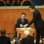 Депутат от Ида-Вирумаа Эдуард Одинец принес должностную присягу в Рийгикогу