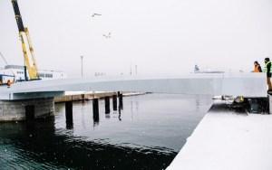 Строительство моста в порту Ванасадам в Таллинне завершится в августе