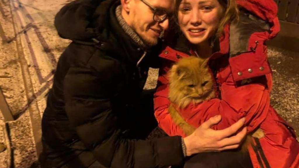 """""""Не переставайте верить!"""": жильцы взорванного дома нашли пропавшего кота"""