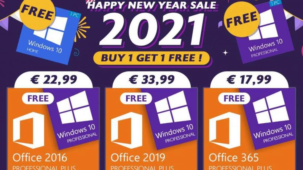 Новогоднее лицензионное предложение: купите Office и получите Windows в подарок