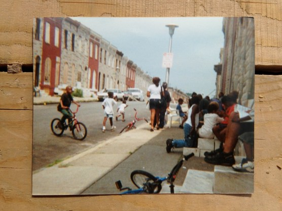 This photo taken from Ms. Janice's stoop at 2403 Eager Street during a block party.