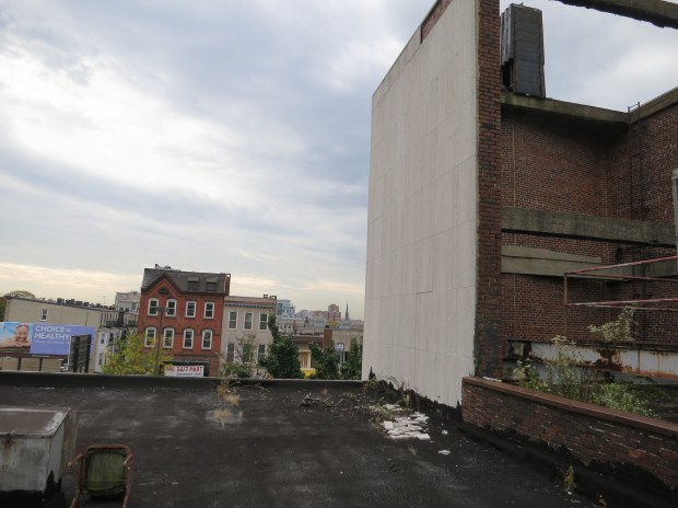 Rooftop view, WFBR/Centre Theatre