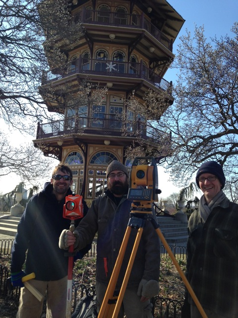 Greg Katz and Dr. Tim Horsley at Patterson Park. Photo by Jennifer Arndt Robinson, March 24, 2014.