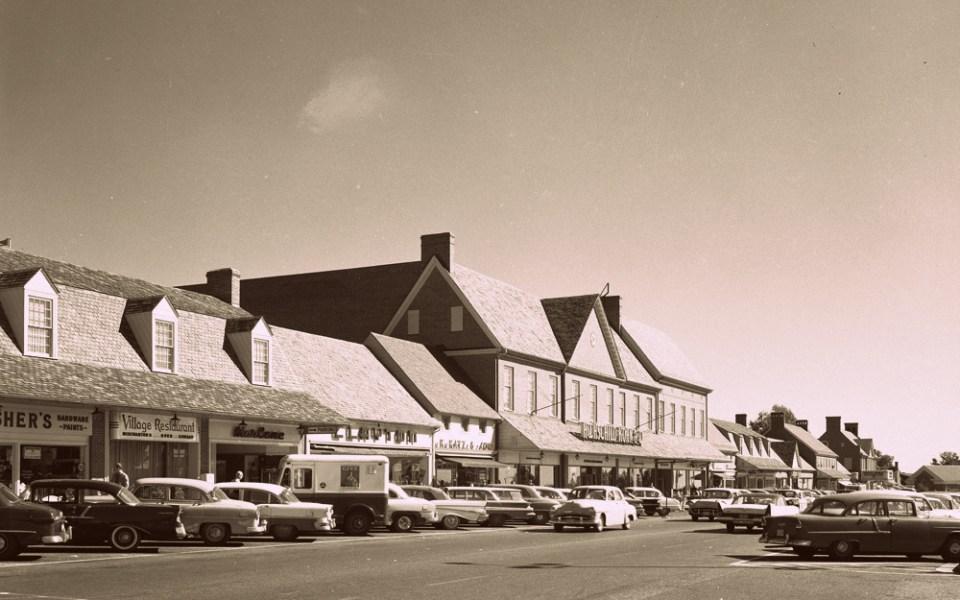 Edmondson Village Shopping Center, June 1962. Courtesy Baltimore County Public Library, 6921046.