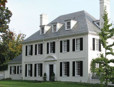 Photograph of 207 Wendover Road, designed by Laurence Hall Fowler in an American Colonial Revival style. Courtesy the Guilford Association.