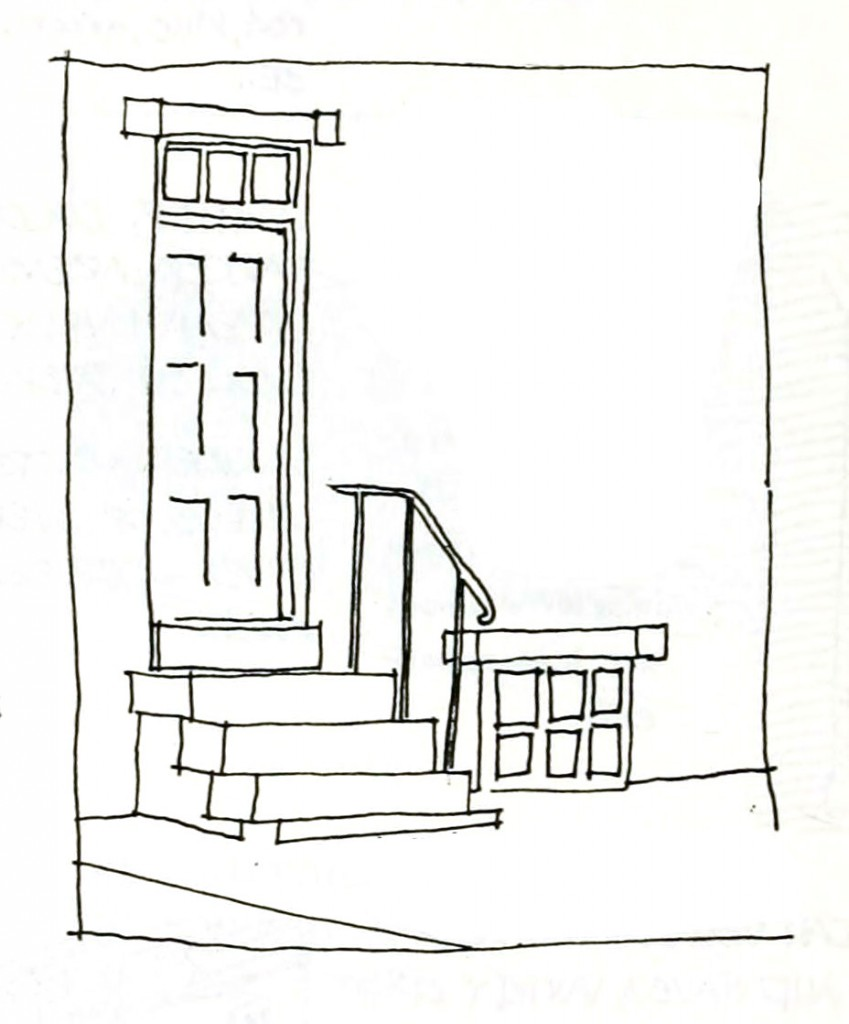 Rowhouse entrance and steps