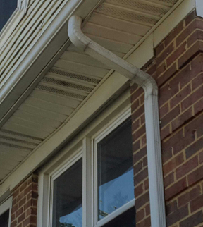 A typical downspout