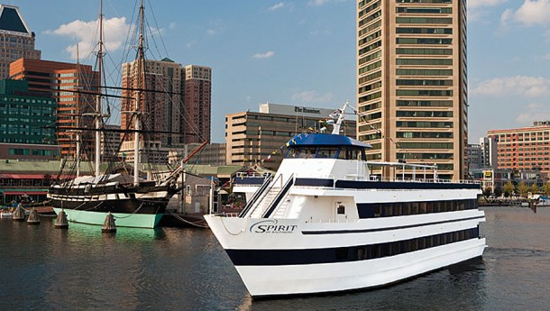 Spirit cruises offers views of Baltimore's Inner Harbor
