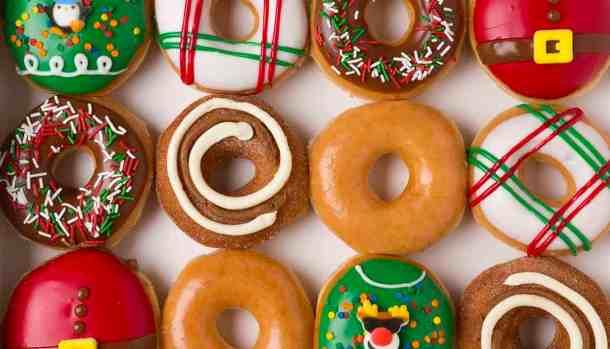 Krispy Kreme dozen holiday doughnuts