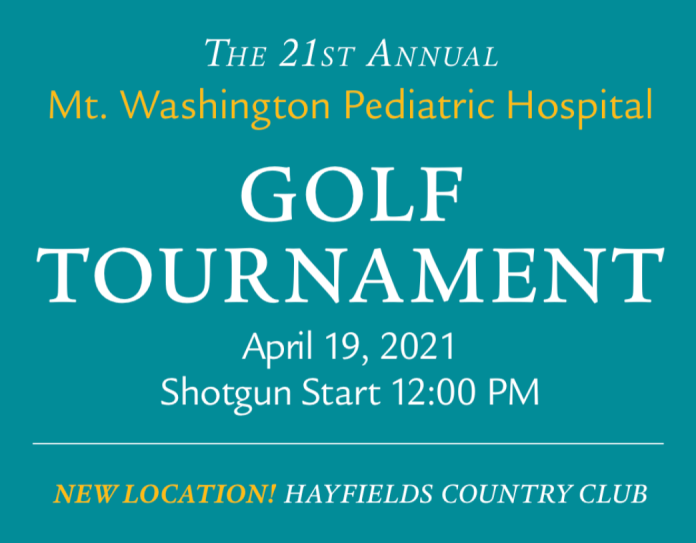 Golf with us on April 19 to help the kids at Mt. Washington Pediatric Hospital