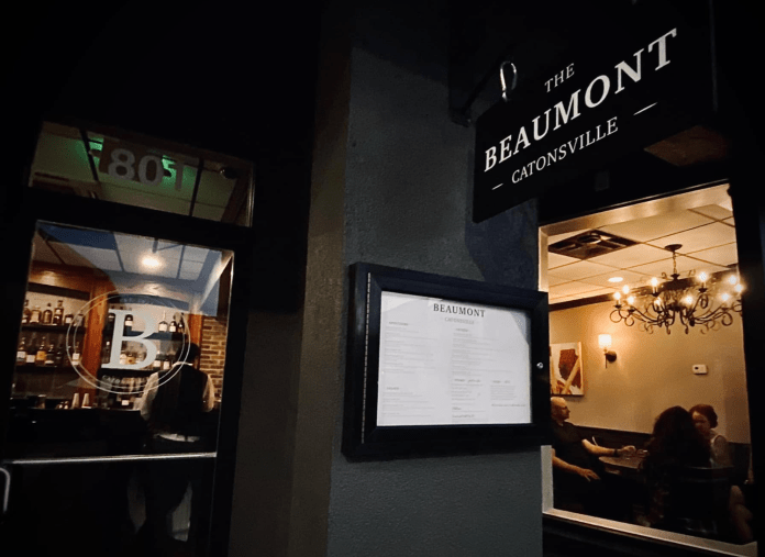 Fine dining and easy comfort at The Beaumont in Catonsville