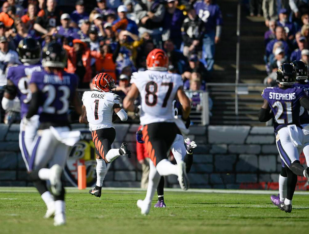 Recurring problems humble Ravens in lopsided loss to Cincinnati