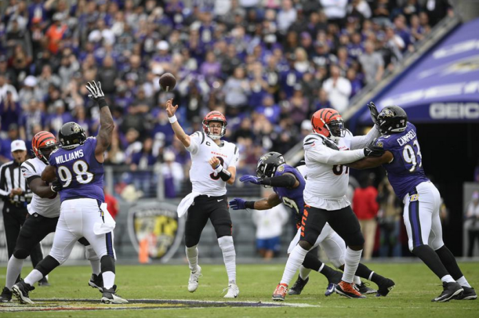 """Harbaugh says Ravens """"were beaten soundly"""" in 41-17 blowout loss to Cincinnati"""