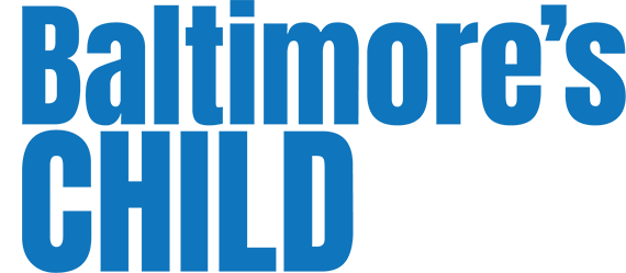 This is a logo for Baltimore's Child Magazine.  They recommend Beyond The Egg Timer book for any woman wanting a baby over 35.
