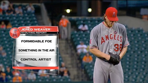 Jim Palmer Scouting Report - Jered Weaver June 10, 2013