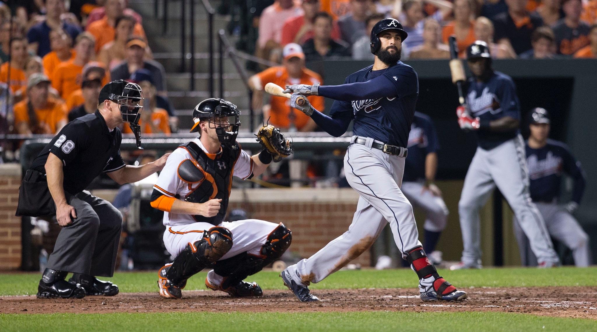 Nick Markakis - Baltimore Orioles -- Atlanta Braves