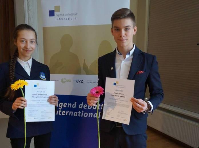 Džiugilė Kersnauskaitė und Adomas Jankauskis aus Litauen