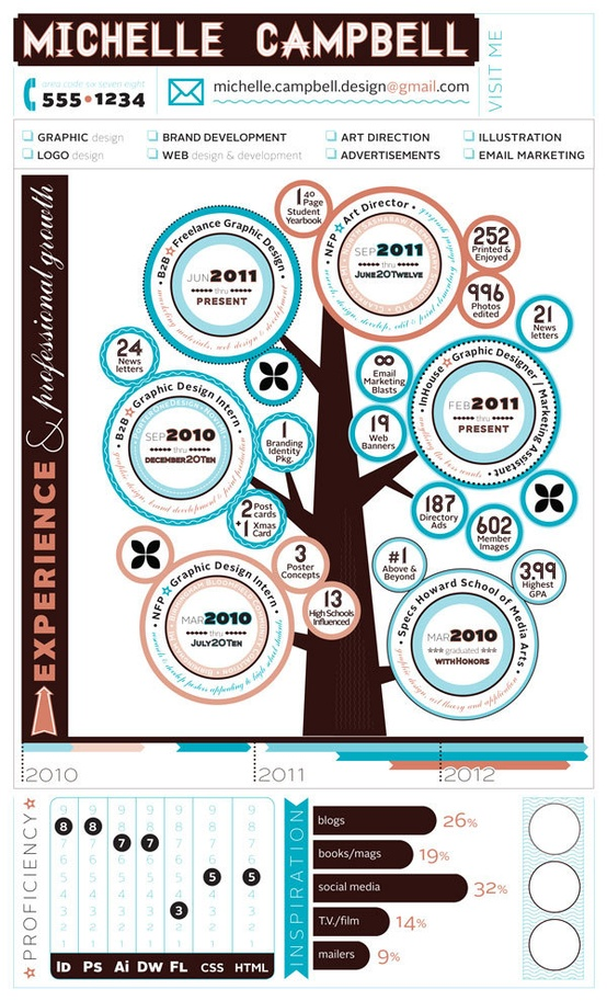 infographic resume graphic design