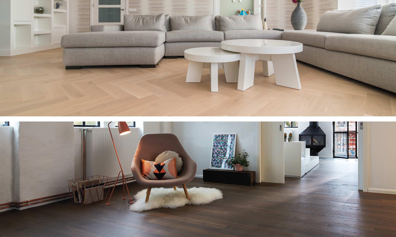 Houten Vloer Visgraat : Slaapkamer donkere houten vloer renovatie visgraat vloer uit
