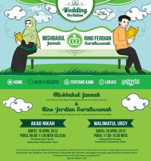 desain undangan pernikahan kartun