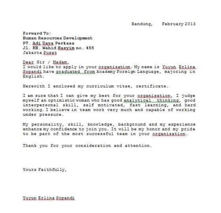 contoh surat pernyataan dengan bahasa inggris