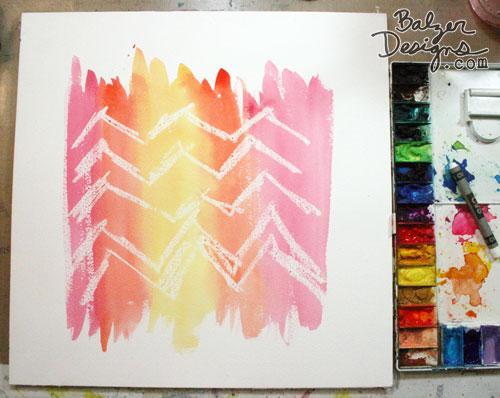 Balzer Designs Crayon Resist Background
