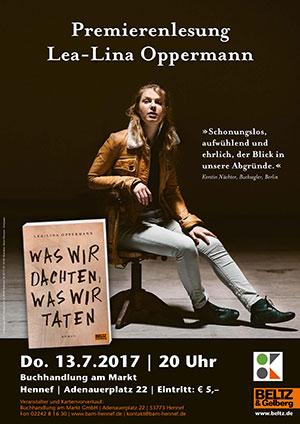 Premierenlesung mit Lea-Lina Oppermann