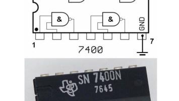 Gambar 3: Contoh rangkaian digital dan representasinya pada hardware