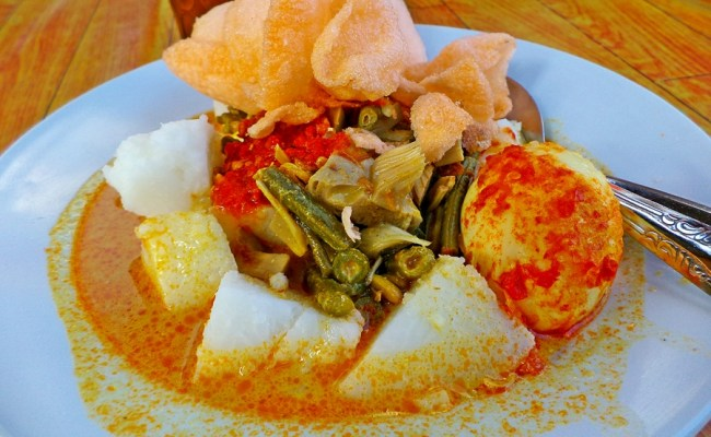Goody Foody Indonesia Pictorial Of The Day Lontong