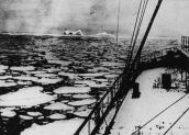 That spot where the Titanic sank Latitude 41 '46N and longitude 50' 14W. Graphics 1912 (Photo by Hulton Archive / Getty Images)