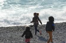 La plage à Nice