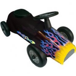Black HotRod Retro Racer Speedster