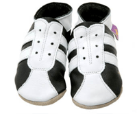 Sporty Black/White Baby Shoes from Nappy Head