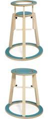 Turquoise Rinki Highchair by Seimi
