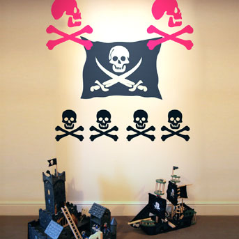 Giant Pirate Wall Stickers