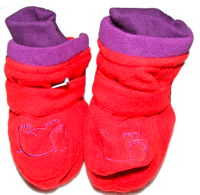 Red Fleece Hippo Boots by Ida T