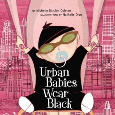 'Urban Babies Wear Black' Board Book