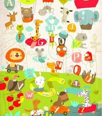 Animalphabet by L'Affiche Moderne