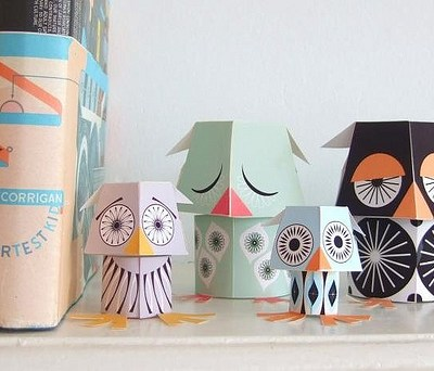 Paper Owls to Download from Mibo