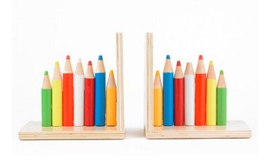 Coloured Pencils Bookends