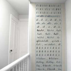 Cahier d'ecriture wallpaper by Madame Chalet at Bodie and Fou