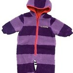 Katvig pram suit and stroller suit purple stripes